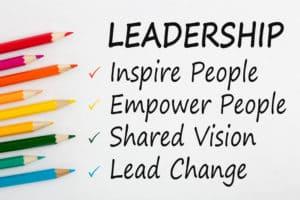 Inspiring Leadership - Wortgrafik