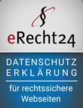 Logo Datenschutzerklärung eRecht24