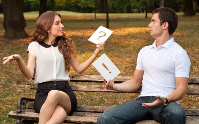 Mann und Frau und die Dynamik ihrer Beziehung